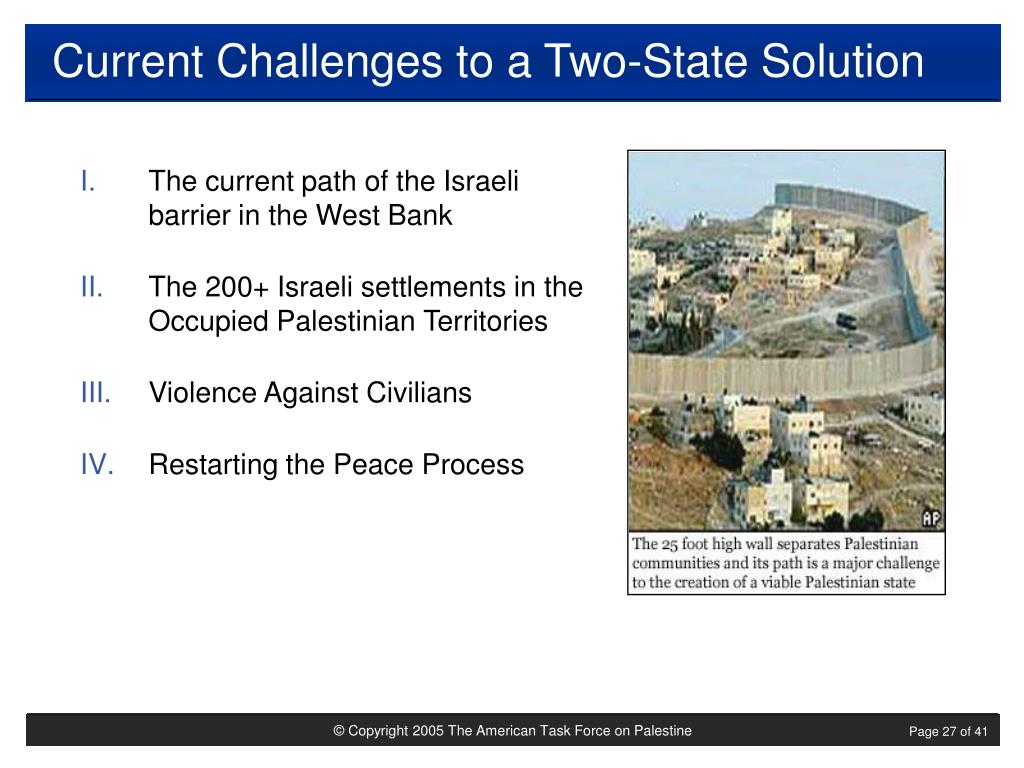 Current Challenges to a Two-State Solution