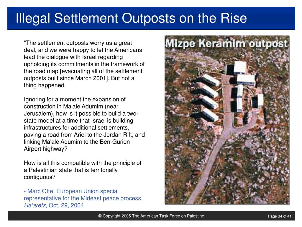 Illegal Settlement Outposts on the Rise