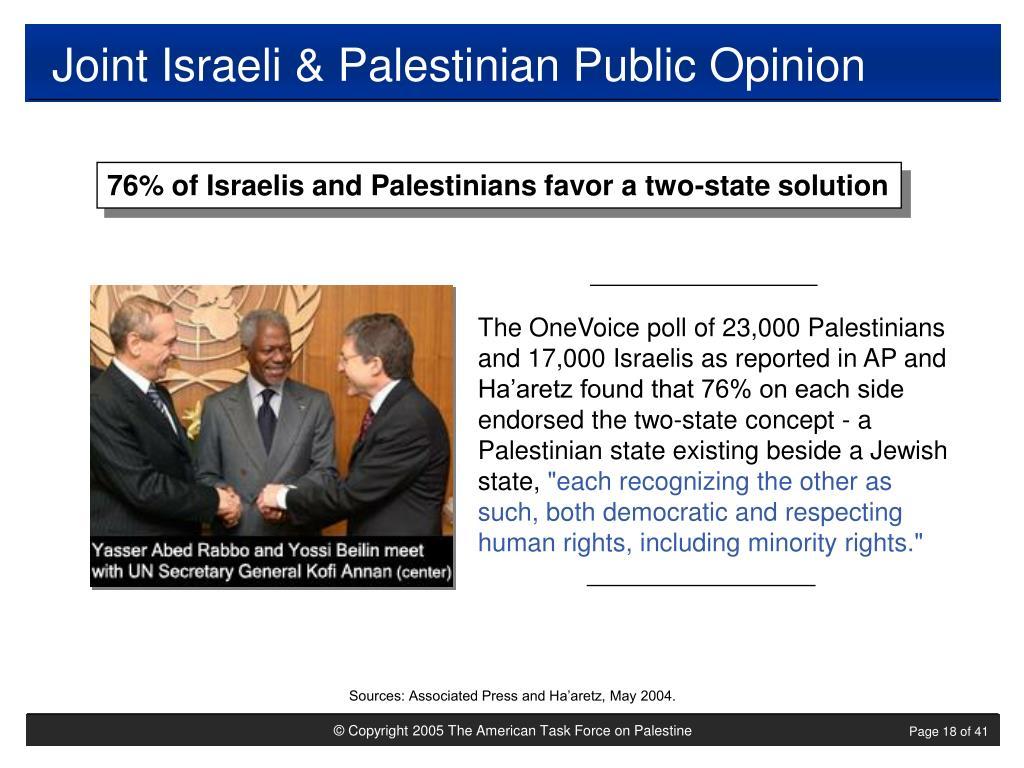 Joint Israeli & Palestinian Public Opinion