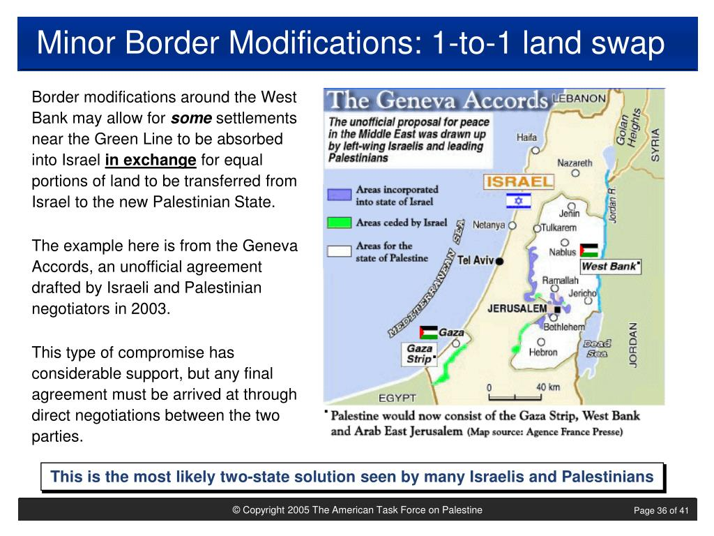 Minor Border Modifications: 1-to-1 land swap