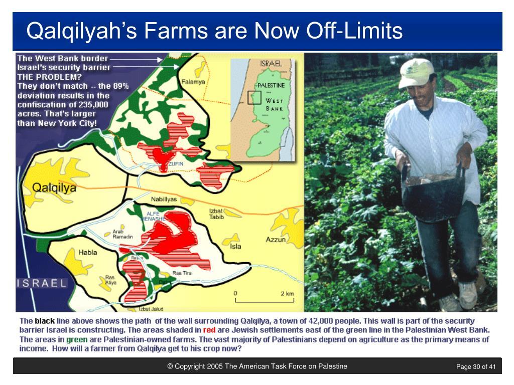 Qalqilyah's Farms are Now Off-Limits