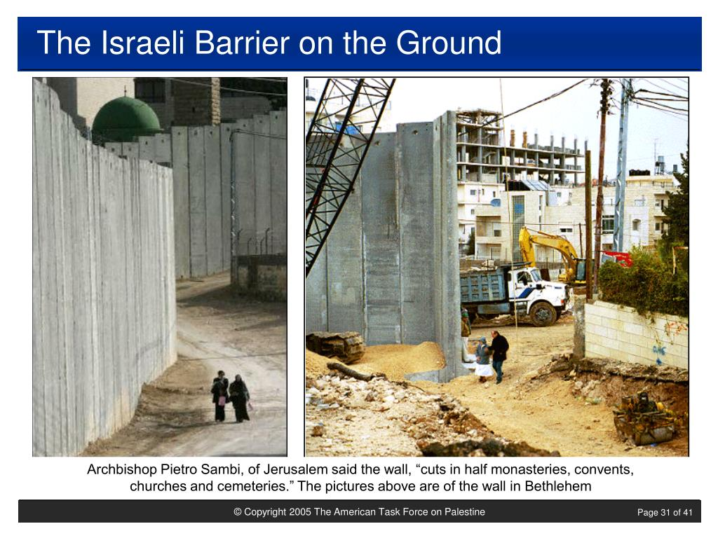 The Israeli Barrier on the Ground