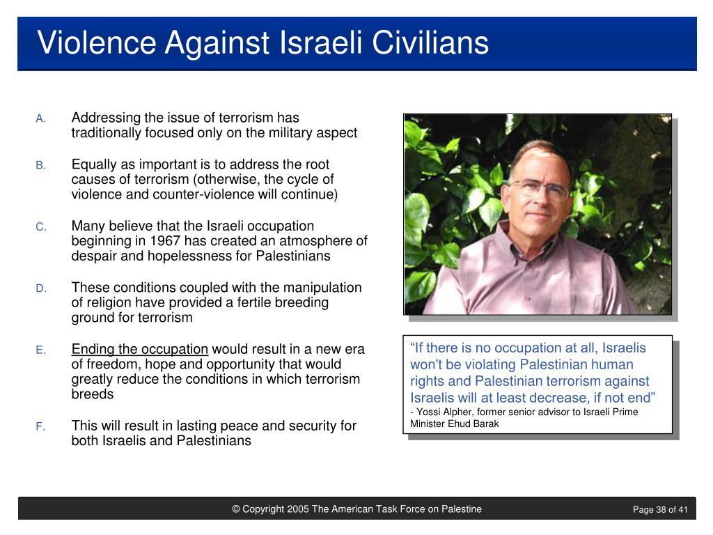Violence Against Israeli Civilians