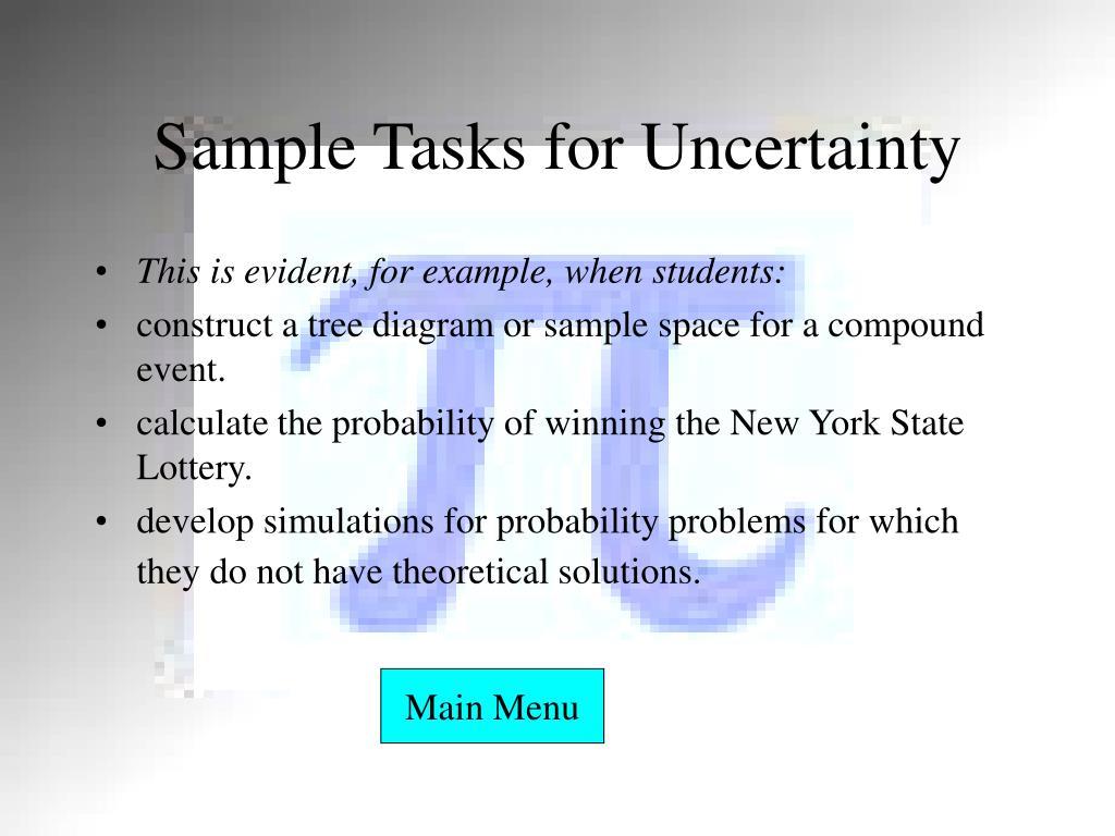 Sample Tasks for Uncertainty