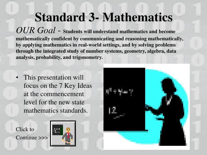 Standard 3- Mathematics