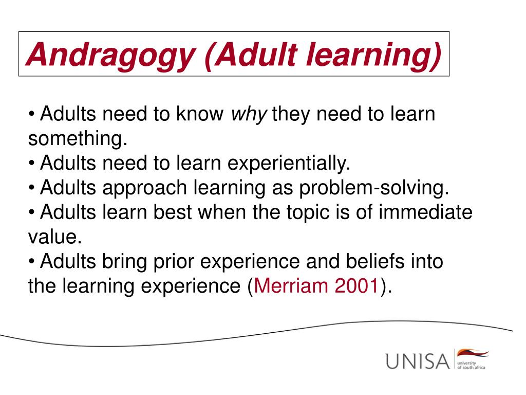 Andragogy (Adult learning)