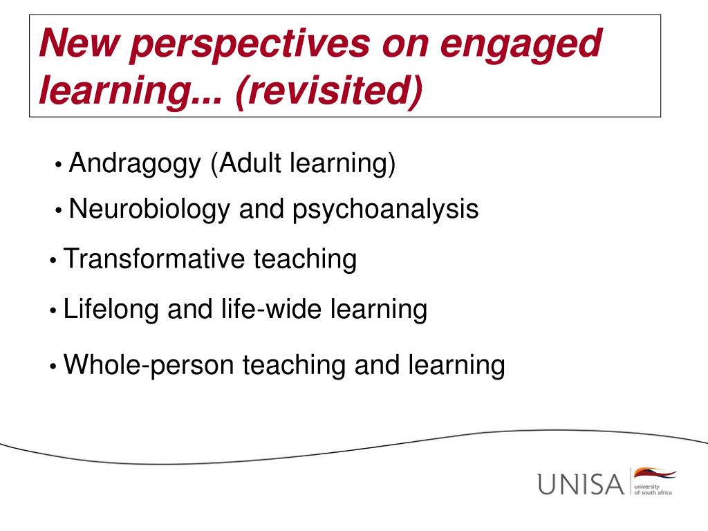 New perspectives on engaged learning... (revisited)