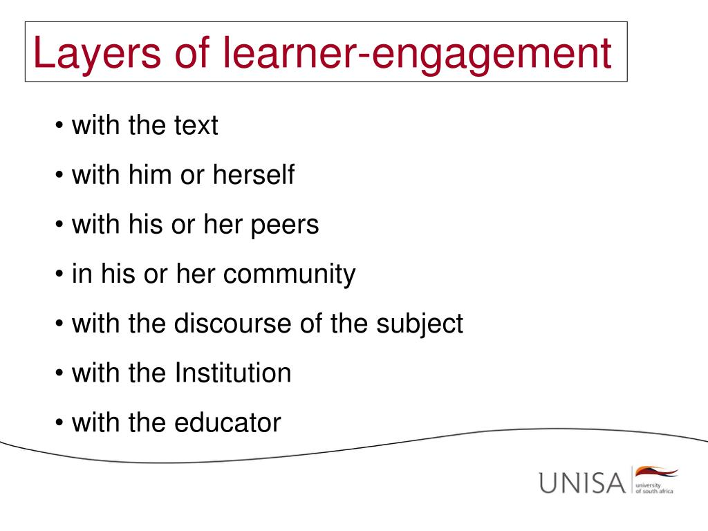 Layers of learner-engagement