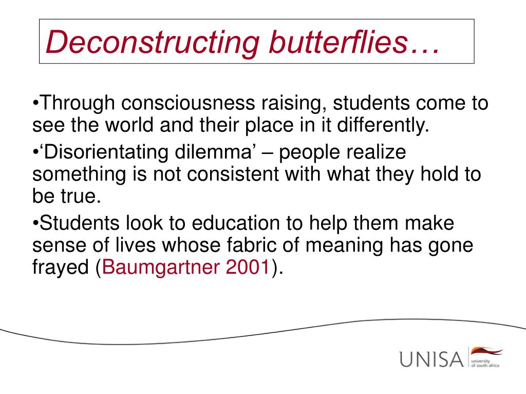 Deconstructing butterflies…