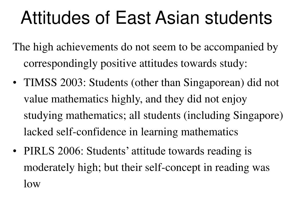 Attitudes of East Asian students