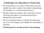 challenges for educators in east asia