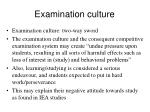 examination culture73