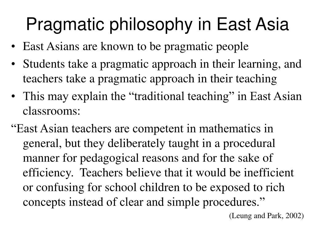 Pragmatic philosophy in East Asia