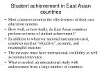 student achievement in east asian countries