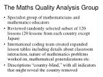 the maths quality analysis group