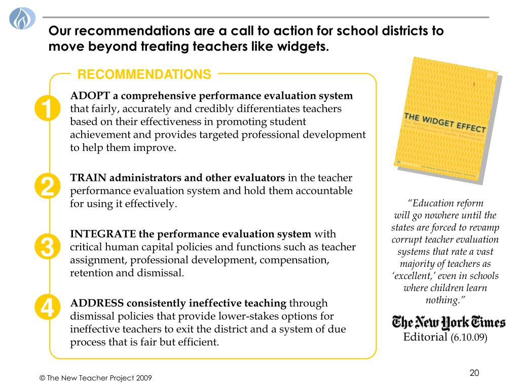 Our recommendations are a call to action for school districts to move beyond treating teachers like widgets.