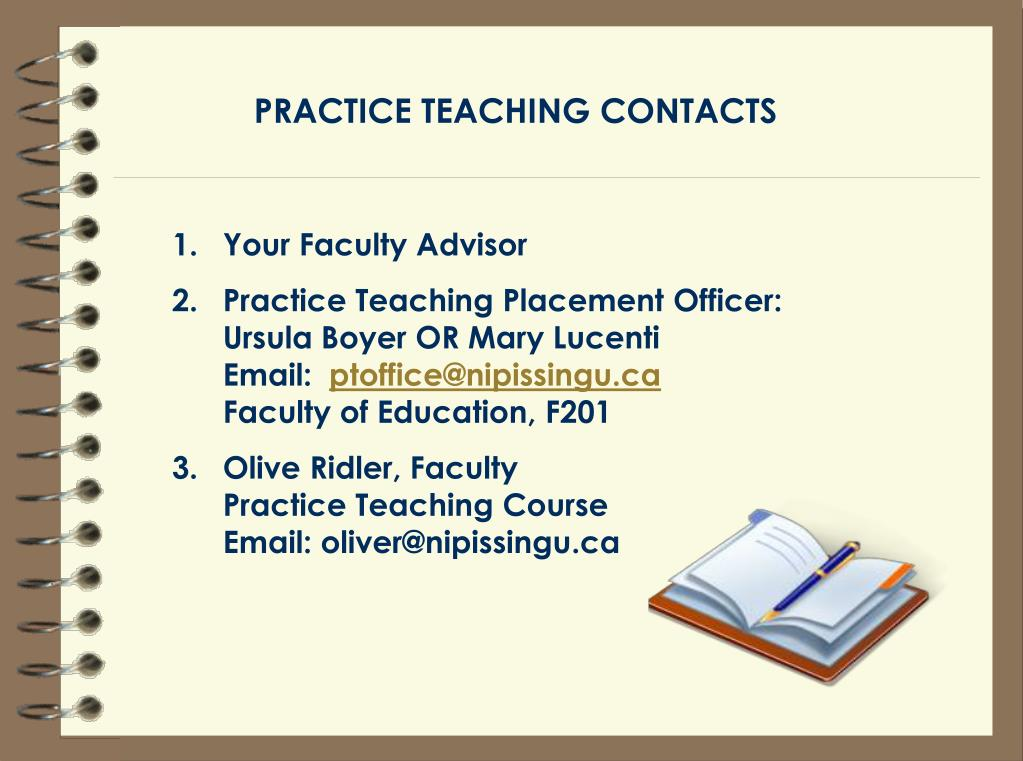 PRACTICE TEACHING CONTACTS