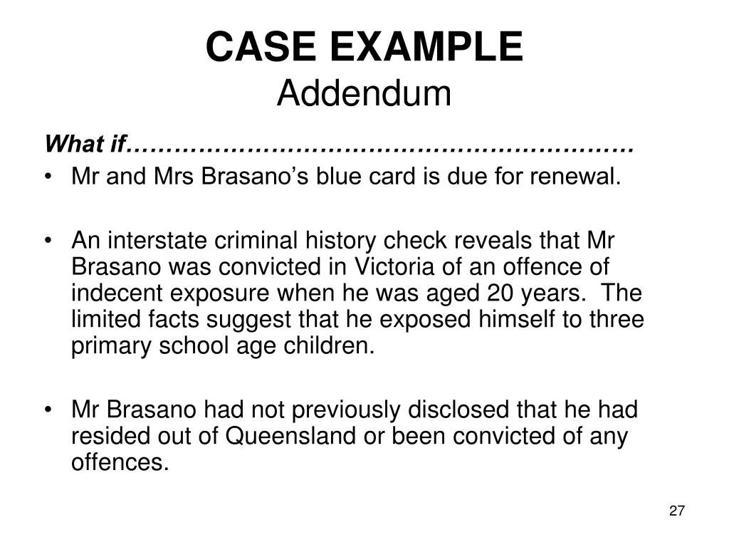 CASE EXAMPLE