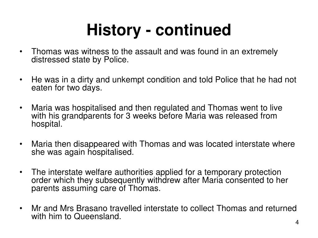 History - continued
