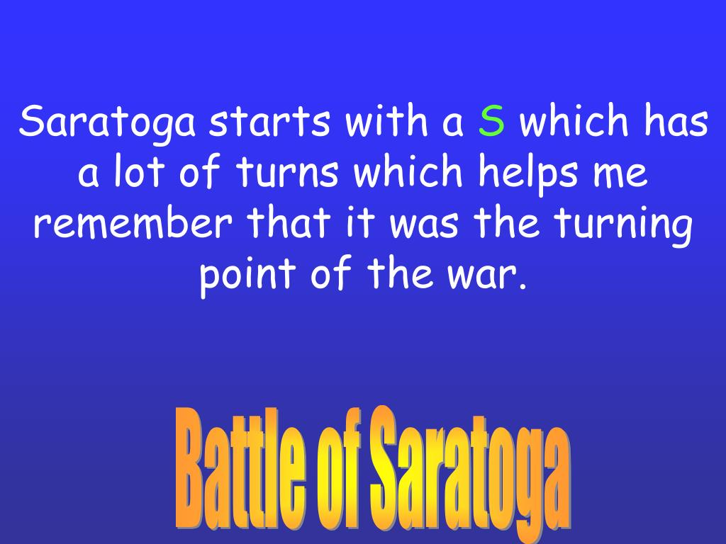 Saratoga starts with a