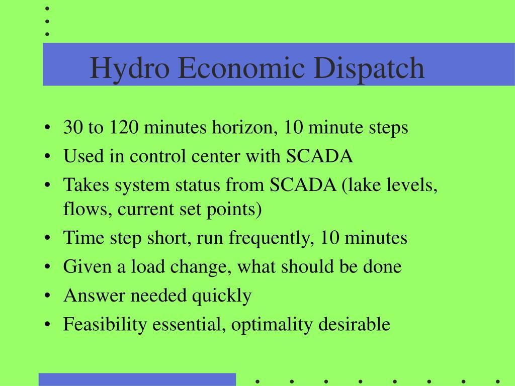 Hydro Economic Dispatch