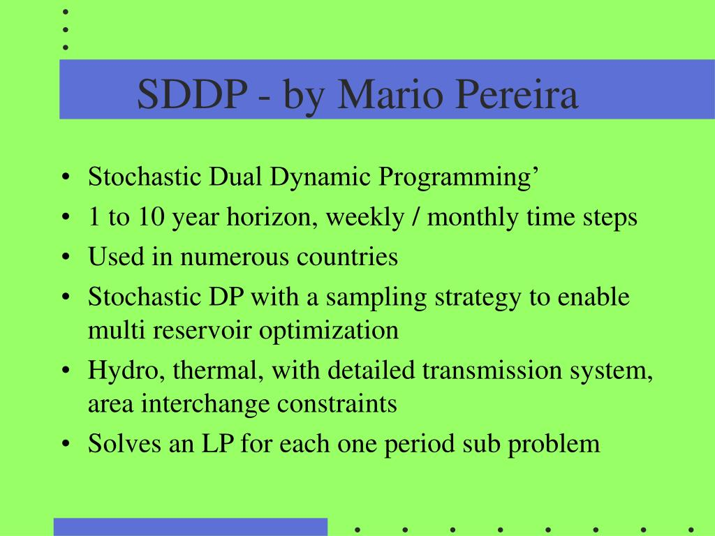 SDDP - by Mario Pereira