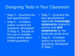 designing tests in your classroom37