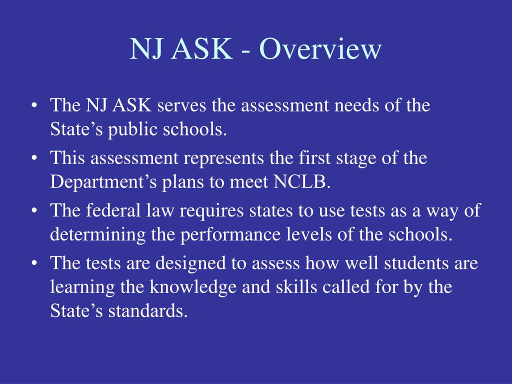 NJ ASK - Overview