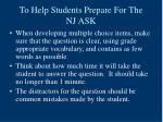 to help students prepare for the nj ask45