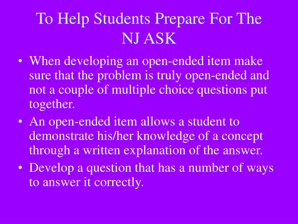 To Help Students Prepare For The