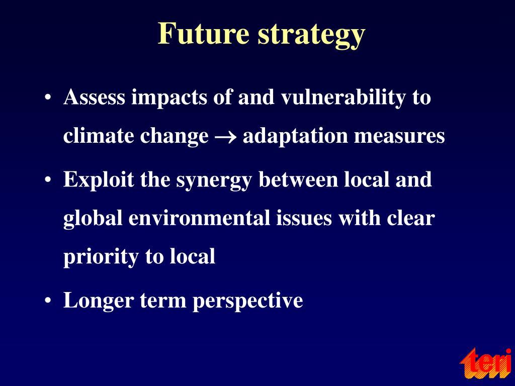 Future strategy