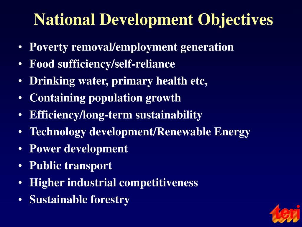 National Development Objectives