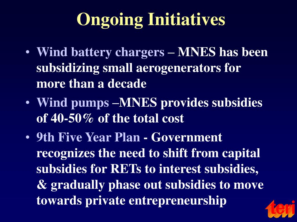 Ongoing Initiatives
