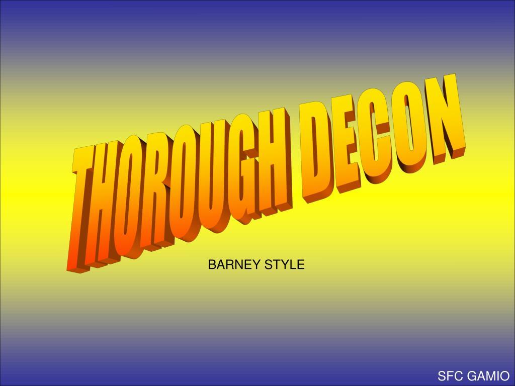 THOROUGH DECON