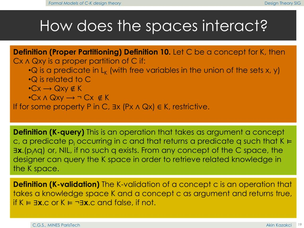 How does the spaces interact?