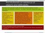 pre intuitionists on existence of objects and definability