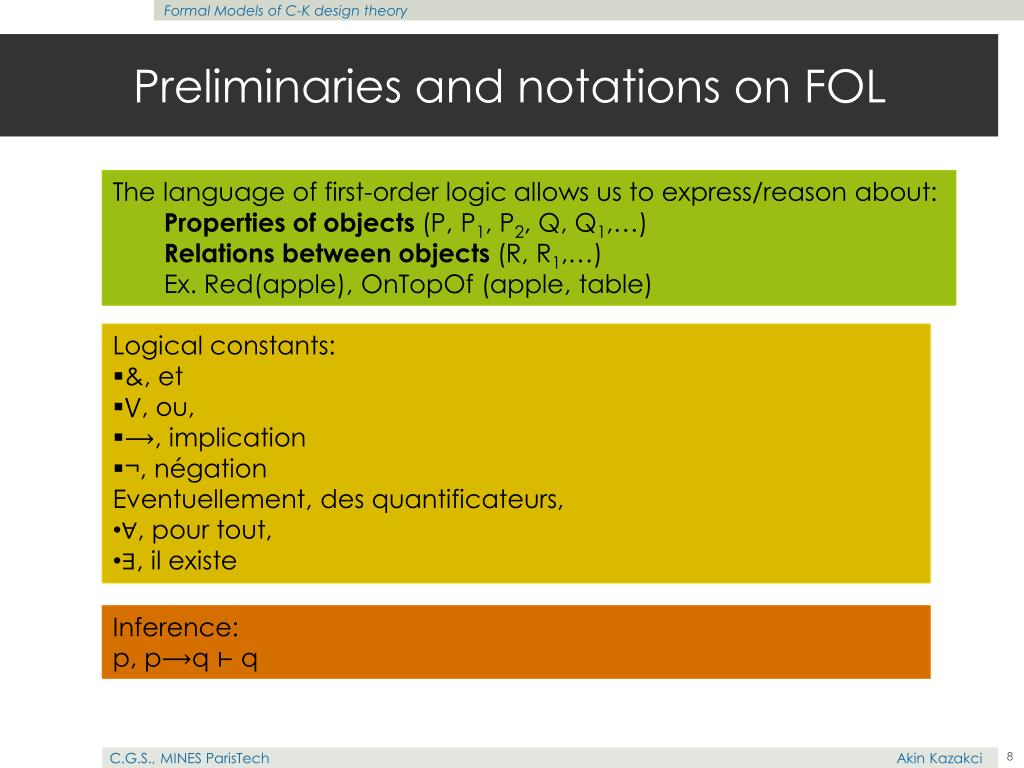 Preliminaries and notations on FOL