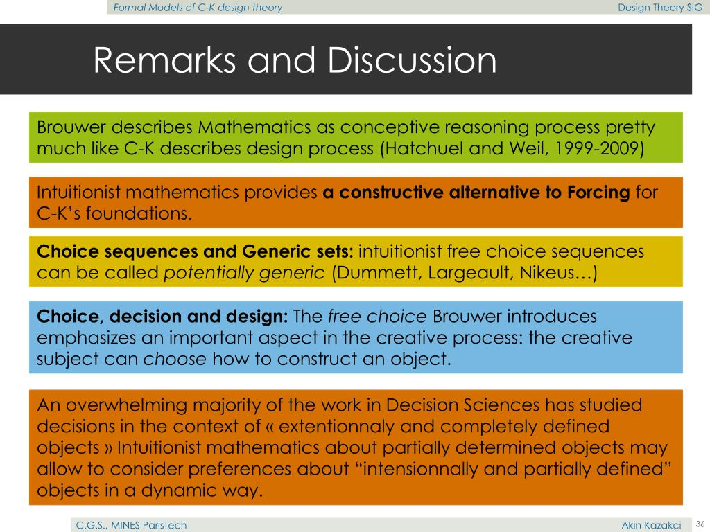 Remarks and Discussion