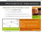 what model for il kripke semantics