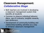 classroom management collaborative stage