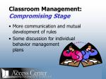 classroom management compromising stage