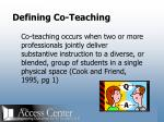 defining co teaching