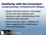 familiarity with the curriculum compromising collaborative stages