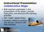 instructional presentation collaborative stage