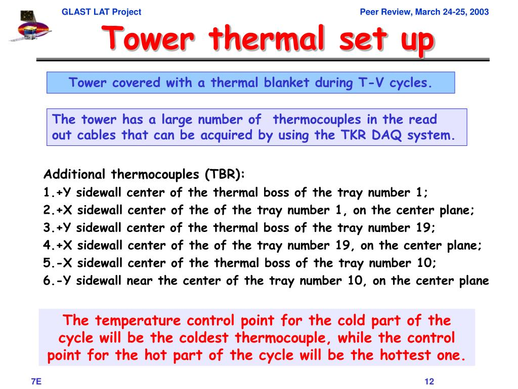 Tower thermal set up