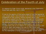 celebration of the fourth of july