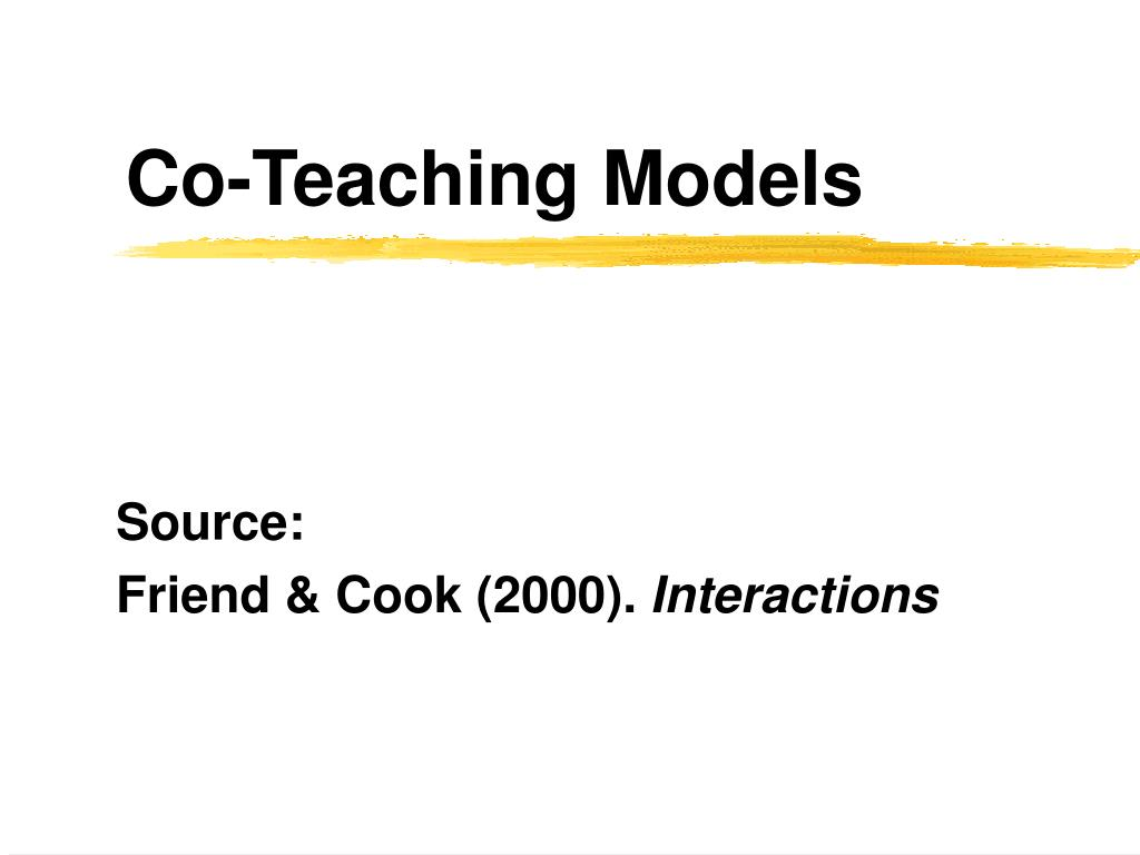 co teaching models l.