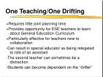 one teaching one drifting