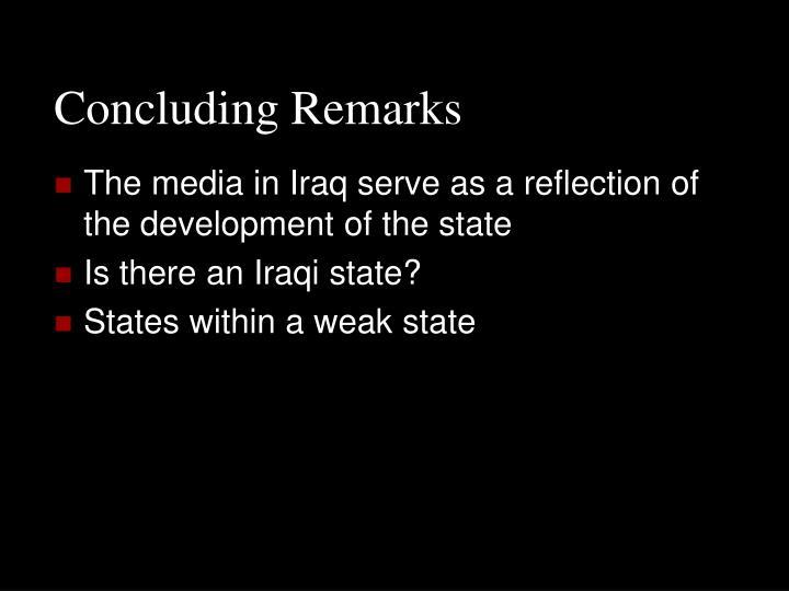 Concluding Remarks
