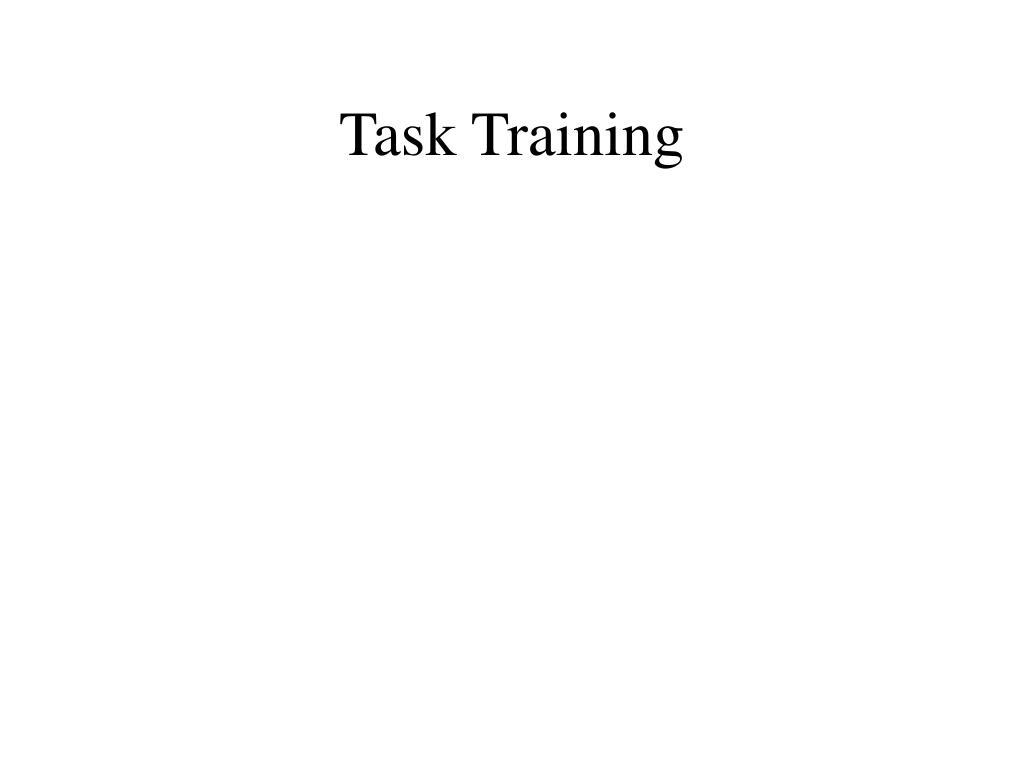 Task Training